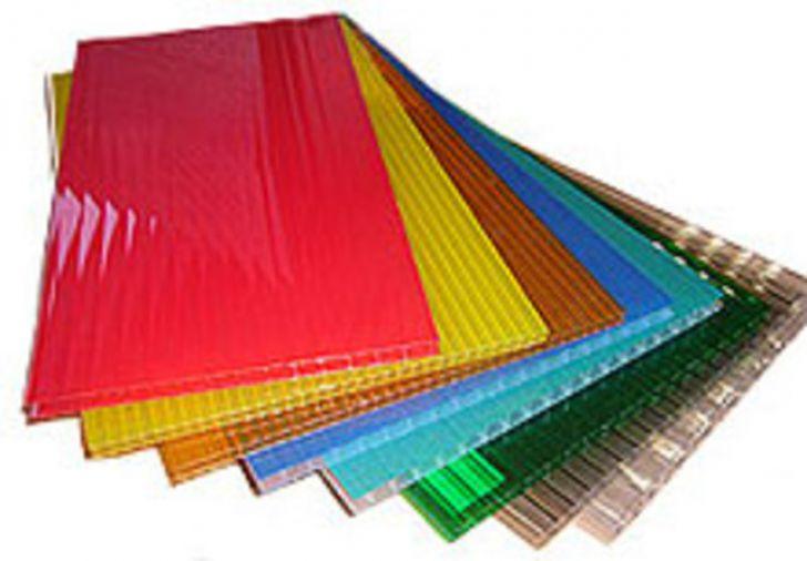 Поликарбонат Цветной Сотовый 4 мм.